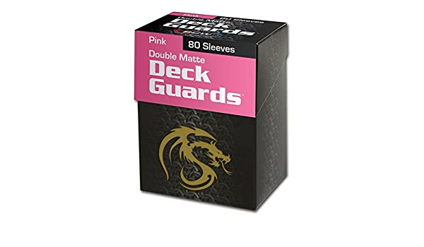 Pink Double Matte Deck Guards 80 Standard Size Sleeves Tournament Quality