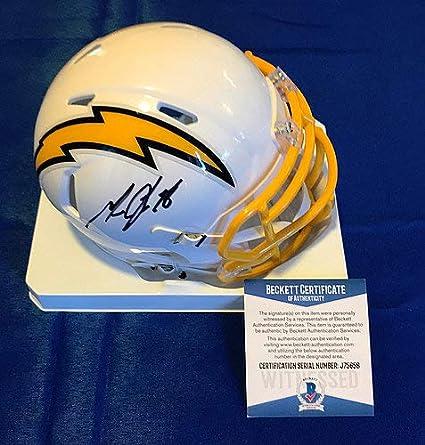 266268ea Amazon.com: Melvin Gordon Signed Mini Helmet La Chargers Los Angeles ...