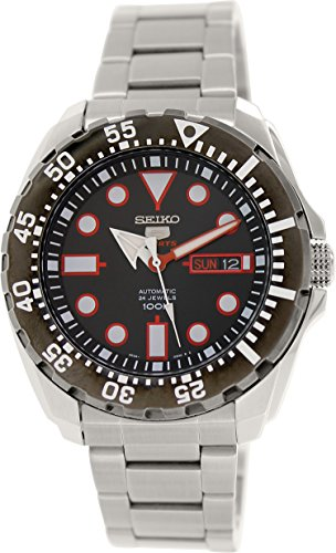 Seiko Men's 5 Automatic SRP603K Silver Stainless-Steel Automatic Watch