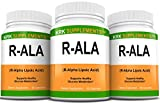 3 Bottles R-ALA R-Alpha Lipoic Acid 200mg 270 Total Capsules KRK Supplements