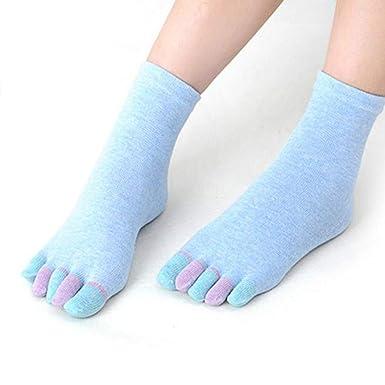 DOGZI Calcetines de estar por casa, Algodón Yoga cinco dedos ...