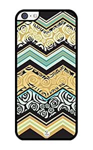 iZERCASE Chevron Mixed Pattern RUBBER iPhone 5C case - Fits iPhone 5C T-Mobile, AT&T, Sprint, Verizon and International iPhone by runtopwell
