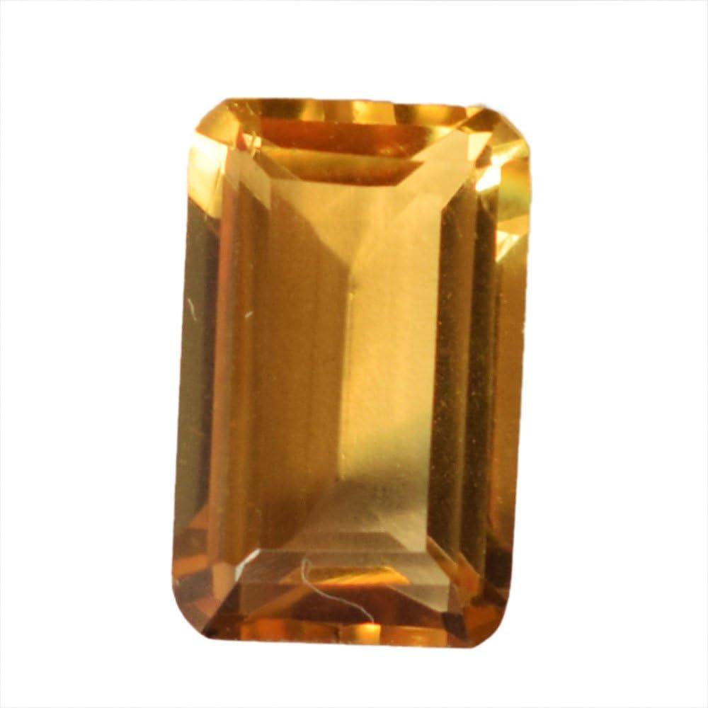 Gema rectangular 100% natural de citrino para hacer joyas, anillo de piedra, semipreciosa suelta, proveedores de citrino, precio al por mayor, AG-8463