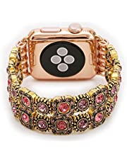 Fashionable and stylish bracelet for women and girls For Smart Watch, handmade, 38mm, HM07