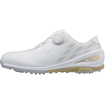 Mizuno 2018 NEXLITE 004 BOA Spikeless Waterproof Ladies Golf Shoe -  White Gold 4.5UK 9bc0c139696d