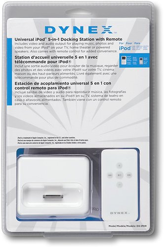 Dynex® Docking Station with Remote for Apple® iPodTM DX-IPDR / DX-IPDR2 by Dynex