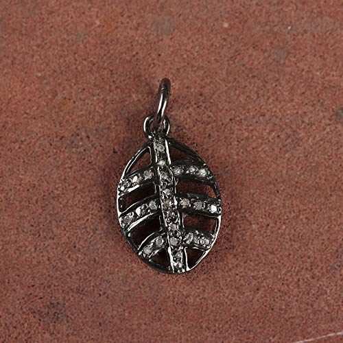 Natural 0.11 Ct. Diamond Pave Designer Charm Pendant Solid 925 Sterling Silver Vintage Style Fine Jewelry Gift For Her (0.11 Ct Diamond Pendant)