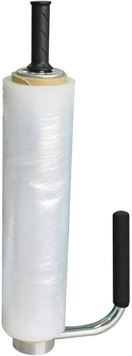 Top Quality Stainless Steel Adjustable Stretch Film//Wrap Dispenser//Machine Industrial Standard Fits Most Film from 12 to 20 Durable Tough Black Easy to Use Instruction Include.