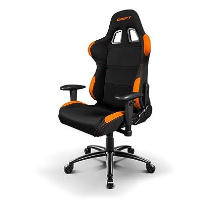 Drift DR100BO Silla Gaming Negra/Naranja