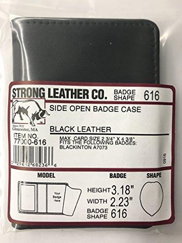 100% Genuine Leather Universal Law Enforcement Oblong Badge Holder Wallet Case