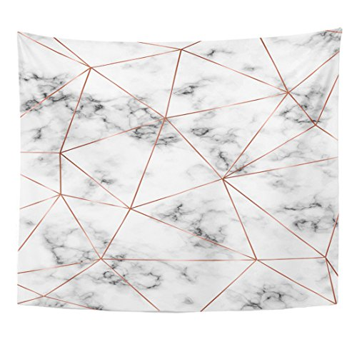 - Emvency Tapestry Marble Copper Triangles Geometric Shapes Diamond Pattern for Holiday Home Decor Wall Hanging for Living Room Bedroom Dorm 50x60 inches