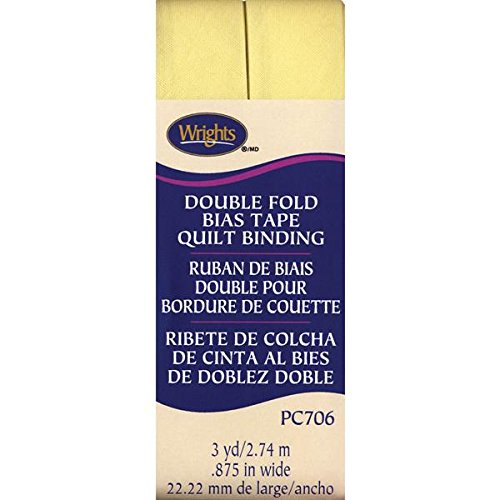 Wrights Double Fold Quilt Binding, 7/8 by 3-Yard, Baby (Wrights Double Fold Quilt Binding)