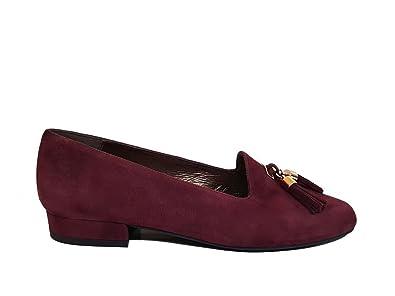 Mocasines de Piel con Tacon bajo 2 cm para Mujer con Punta Cerrada Redonda y Borlas con Flecos: Amazon.es: Zapatos y complementos