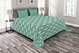 girl steering wheel cover chevron - Lunarable Mint Bedspread Set King Size, Steering Wheels Anchors Chevron Zigzag Nautical Seaside Theme Aquatic, Decorative Quilted 3 Piece Coverlet Set with 2 Pillow Shams, Mint Green Navy Blue White