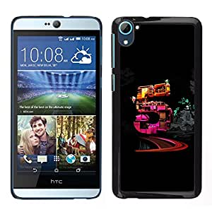 "For HTC Desire D826 , S-type Cinco"" - Arte & diseño plástico duro Fundas Cover Cubre Hard Case Cover"