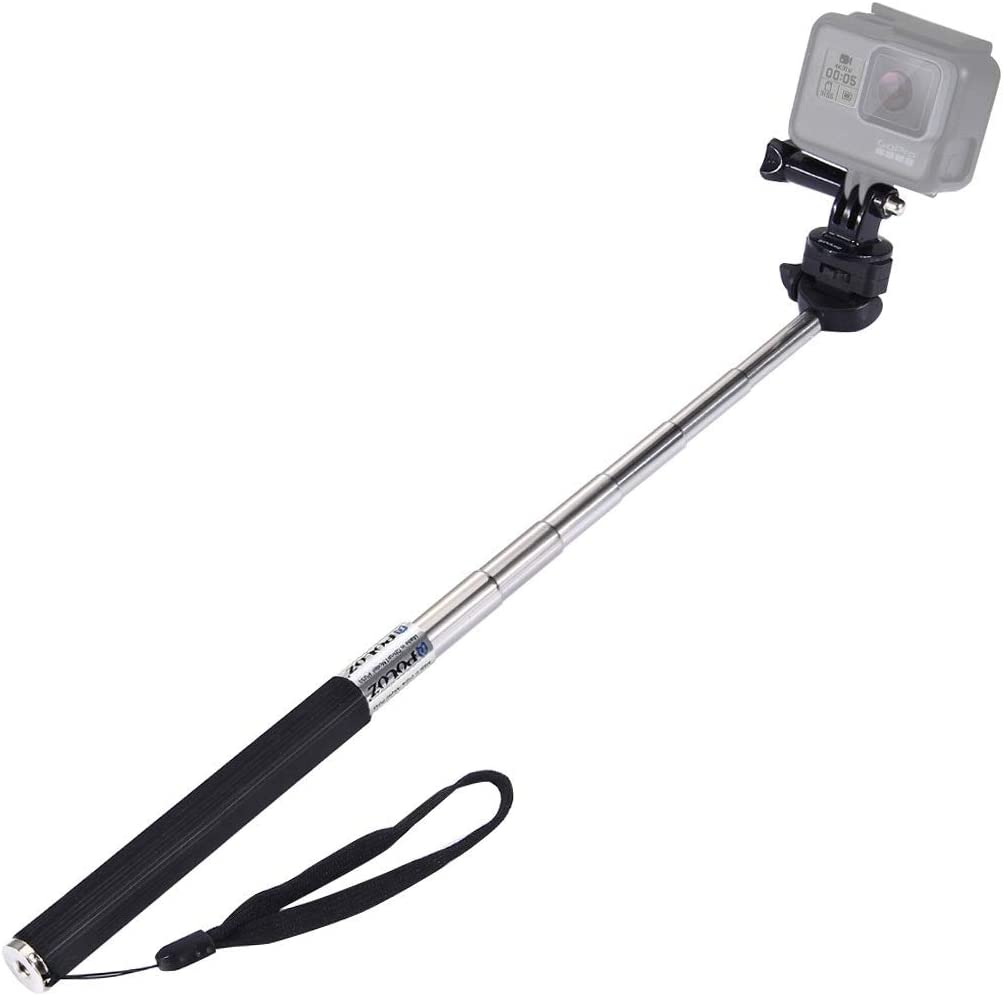 DJI Osmo Action Length: 22.5-100cm Xiaoyi and Other Action Cameras HUIFANGBU Extendable Handheld Selfie Monopod for GoPro New Hero //HERO7 //6//5 //5 Session //4 Session //4//3+ //3//2 //1