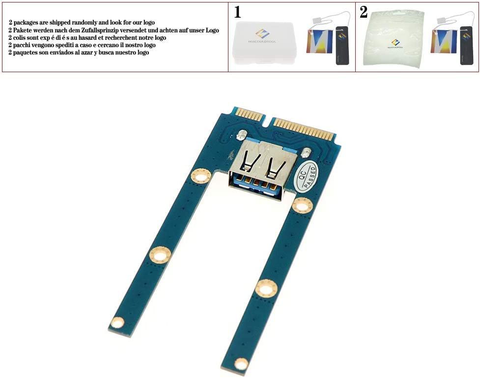huicouldtool Support USB WiFi Bluetooth Adapter Reader Mini PCIe mPCIe to USB 2.0 Port Card Mini pcie Connector