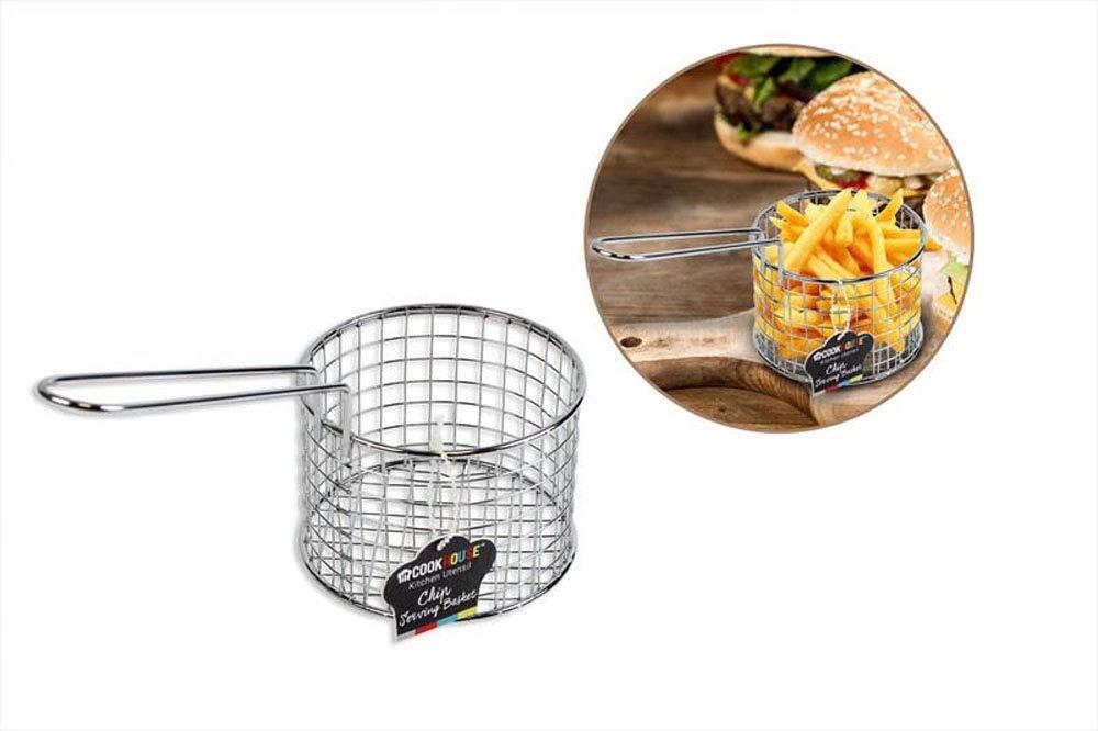 Patatas fritas de Chip cesta para servir conjunto de 4 chip Mini cubo para servir aperitivos Chip Freidora sartén ideal para chips, patatas fritas, ...