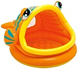 "Intex Lazy Fish Inflatable Baby Pool, 49"" X 43"" X 28"", for Ages 1-3- Water capacity: 14 gallons (6"" of wall height)-Dimensions: 49 x 43 x 28 inches ; 4.1 pounds-E-book for You@"