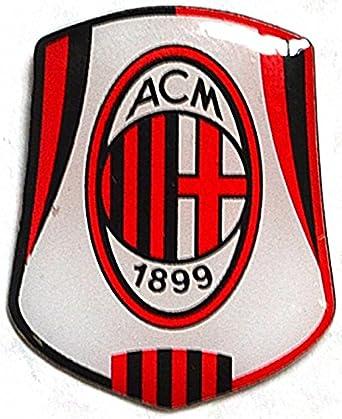 Amazon Com Nuevo Oficial Equipo De Futbol Pin Insignia Ac Milan Fc Clothing