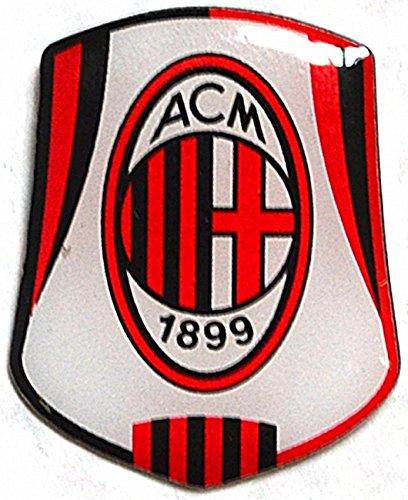 Pin / Anstecker mit Fußballmanschafts-Wappen, offizieller Fußball-Fan-Artikel, verschiedene Mannschaften verfügbar In offizieller Verpackung - AC Milan FC