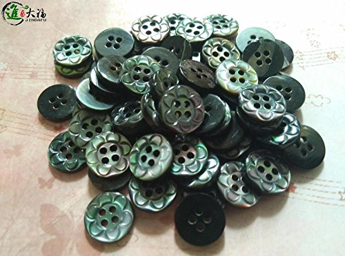 Fubei shell into the big flower craft buttons 184 butterfly buckle black mother of pearl buttons stock sales of high-end DIY button for Sewing Crafts Handmade Clothes DIY