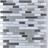 glass backsplash for kitchen - Art3d 10-Piece Stick on Backsplash Tile for Kitchen/Bathroom, 12