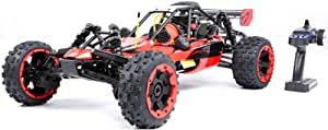 1/5 Petrol 4WD RC Scale Buggy Car, with 29Cc Two-Stroke Four-Point Fixed Gasoline Engine Simulation Model for Adults