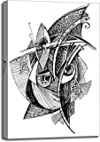 Barewalls Abstract Unusual Pencil Drawing Gallery Wrapped Canvas Art (36 in. x 24 in.)