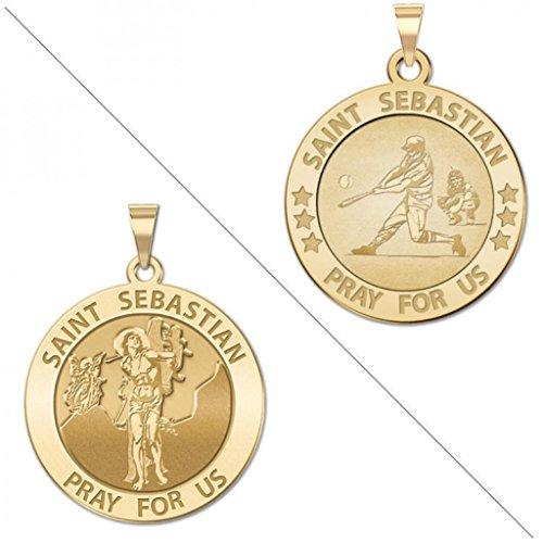 Baseball Saint Sebastian Doubledside Sports Religious Medal