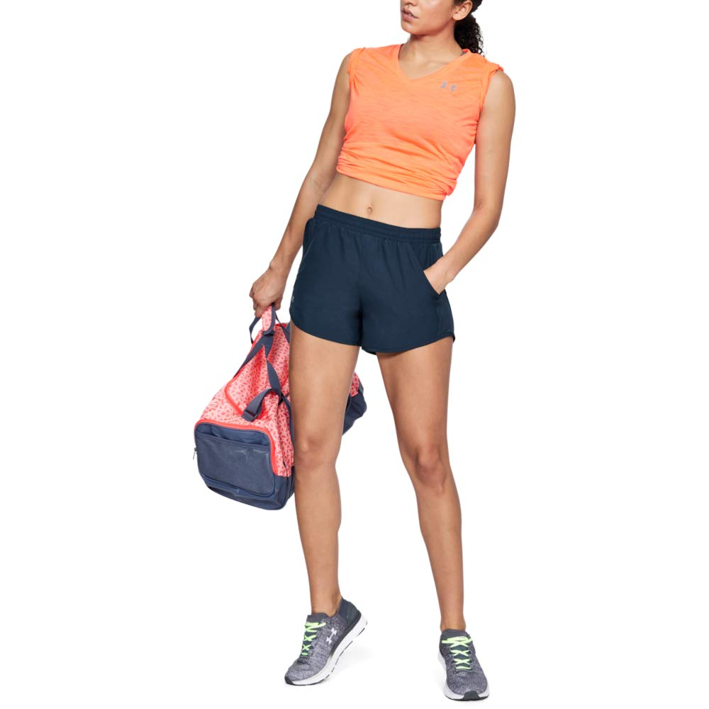 Under Armour Women's Fly By Running Shorts, Academy (408)/Reflective, Small by Under Armour