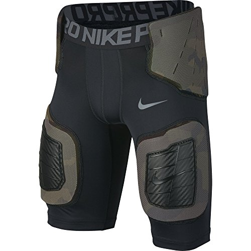 Core Nike Pro - Boy's Nike Pro Hyperstrong Core Football Shorts Black/Dark Grey/Flint Grey Size Large