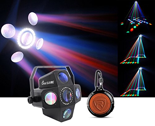 Chauvet DJ CIRCUS 2.0 IRC LED RGBWA Beam & Strobe Effect Light + Speaker! by Chauvet