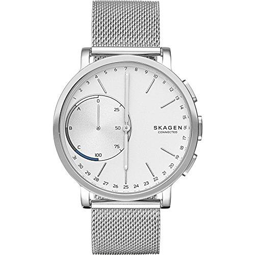 Skagen Hagen Stainless Steel Mesh Hybrid Smartwatch, Color: Silver-Tone (Skagen Designs)