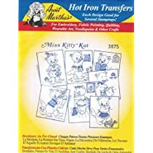 Miss Kitty Kat Cat Aunt Martha's Hot Iron Embroidery Transfer by Aunt Martha's