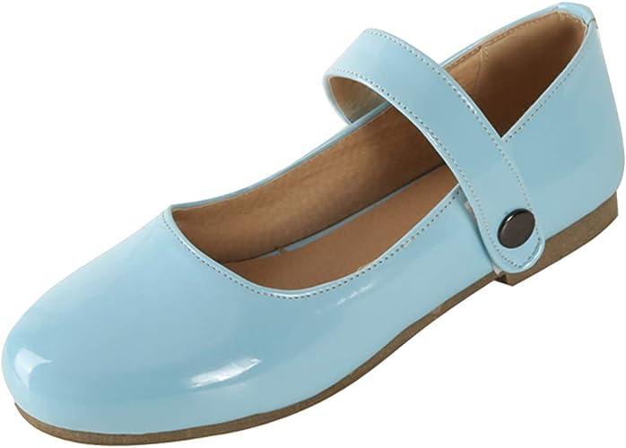 Femany Mary Jane Damenschuhe Flach Pumps mit Riemchen Schuhe