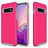 Electronics : KUMTZO Compatible Galaxy S10+ Plus Case,Armor Shock Absorbing Heavy Duty TPU + PC [Dual Guard Protection] Anti-Scratch Hybrid Bumper Series Durable Cover for Samsung Galaxy S10 Plus 6.4 inch(Hot Pink)