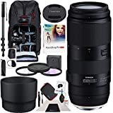 Tamron 100-400mm F/4.5-6.3 Di VC USD Lens Model A035 AFA035C-700 for Canon DSLR Cameras with Deco Gear Photography Backpack 67mm Multicoated UV, Polarizer & FLD Filter Kit Monopod and Software Bundle