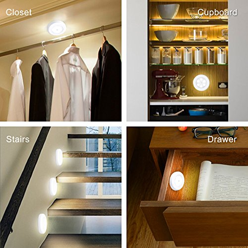 Century Motion Sensor Battery Powered LED Light for Entrance, Hallway, Garage and Bathroom (3 Pack), White (Off-White) by Century (Image #2)