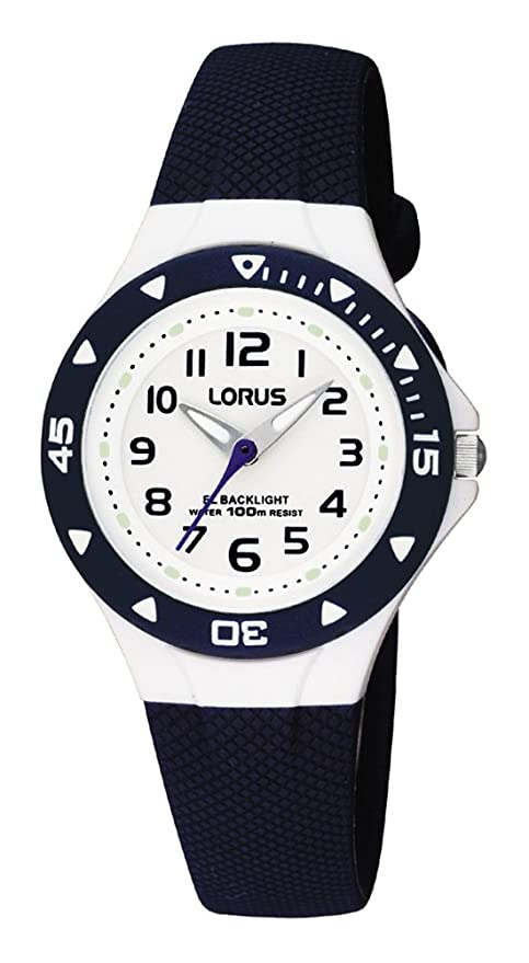 Lorus By Seiko Rrx43cx9 Blue Plastic Childrens Watch Backlight