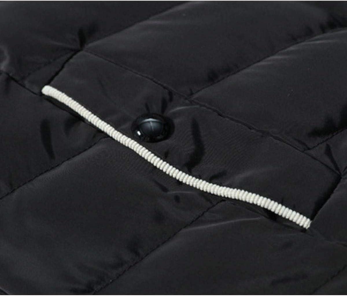 BOLAWOO Gilet da Uomo Cappuccio Rimovibile Cotone Senza Gilet di Caldo Gilet Maniche Mode di Marca Top Autunno Inverno Giubbotto Rosso
