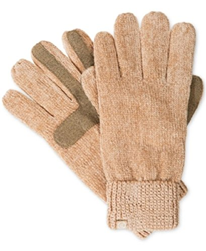 Isotoner Signature Chenille Knit Palm Smart Touch Tech Gloves in Camel, One Size