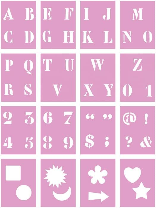 1in 1 Color Factory PA718A Complete Letter Stencil Sets
