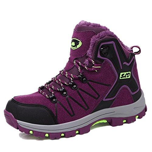 Señoras Zapatos De Senderismo Mujeres Ligeras Caminar Shoest Zapatos De Senderismo Al Aire Libre Off-Road Escalada Resistente Al Desgaste Zapatos Morado