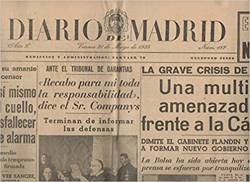 DIARIO DE MADRID. AÑO 2. NUM. 187. VIERNES 31 DE MAYO. DE ...