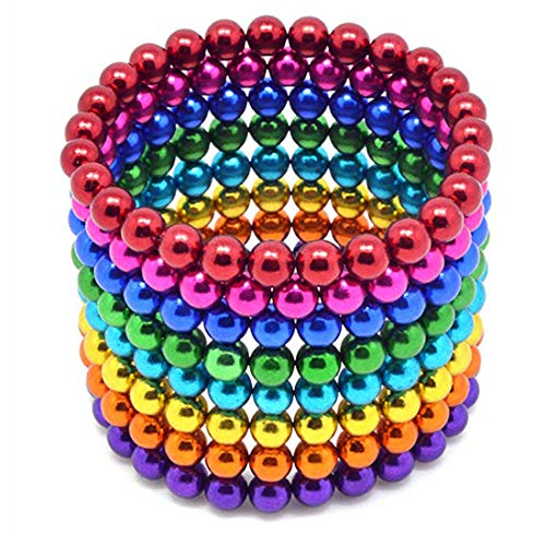 Coolpay 8 Colors 512 Pcs 5MM Big Magnets DIY Toys Magnetic Fidget Blocks Building Blocks for Development of Intelligence Learning and Stress Relief Gift for Adults or Kids by Coolpay (Image #2)