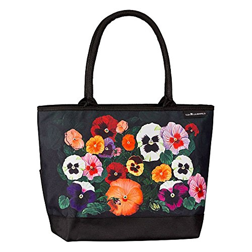 VON LILIENFELD Tasche Damen Handtasche Shopper Henkeltasche bedruckt mit Motiv Kunst Blumen Design Stiefmütterchen 1s10MRi7D