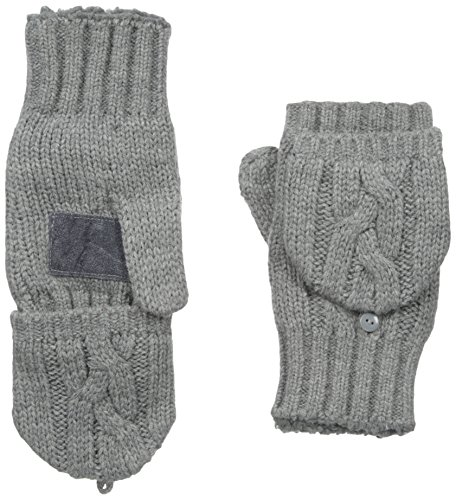 Flip Top Mittens - Isotoner Women's Sherpasoft Chunky Cable Flip-Top Mitten, Oxford Heather, One Size