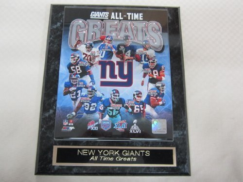 New York Giants All Time Greats Collector Plaque w/8x10 Photo