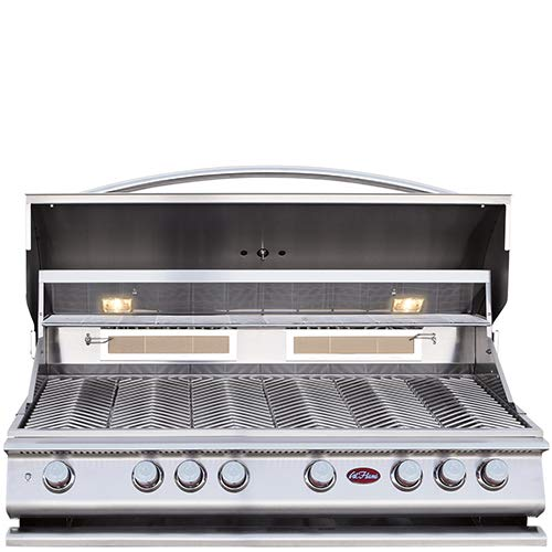 Cal Flame 089245002178 6 Burner Deluxe Grill Head W/Rotisserie, Stainless Steel